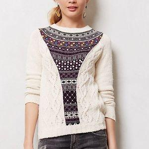 Anthropologie Algarve Beaded Sweater